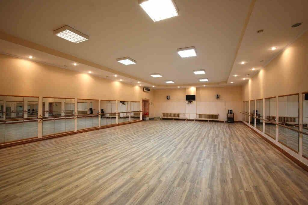 Spacious and bright dance hall.