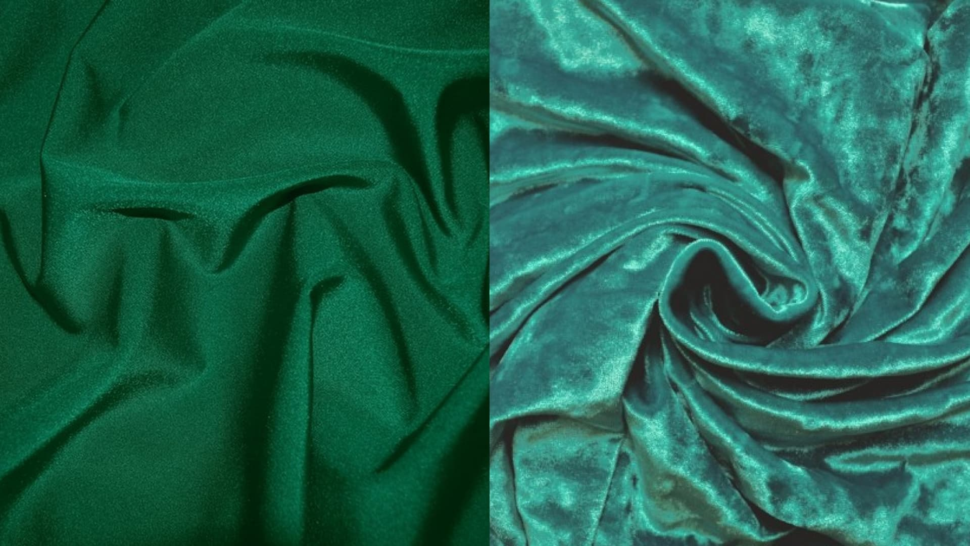 A popular fabric for sewing forms is emerald bi-flex and velveteen.