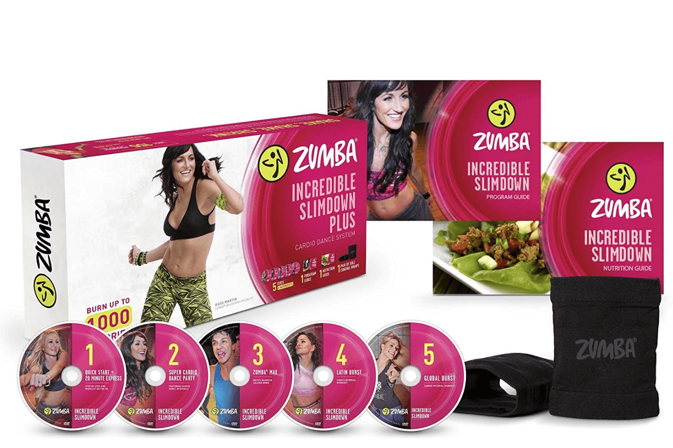 DVD Zumba training for weight loss.