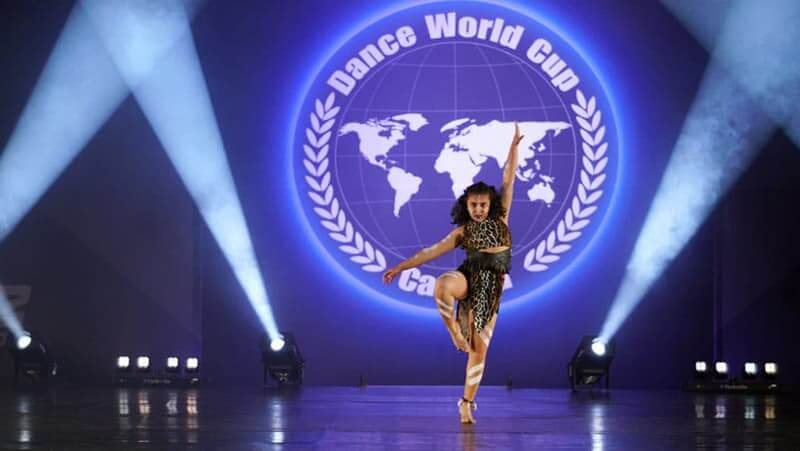 Dancer on Competitive Stage.